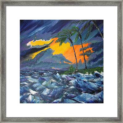Eye Of The Storm Framed Print by Susan Kubes