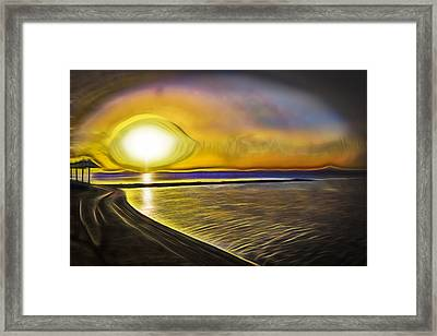 Framed Print featuring the photograph Eye Of The Sun by Scott Carruthers