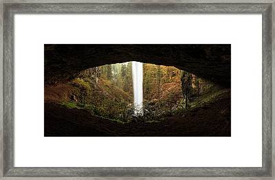 Eye Of The Waterfall Silver Falls Oregon Framed Print by Jarred Decker