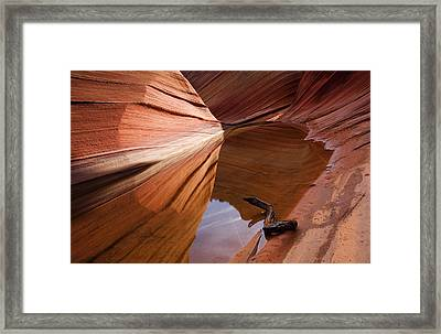 Eye Of The Wave Framed Print by Mike  Dawson