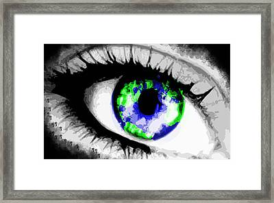 Eye Of The World Framed Print by Danielle Kasony