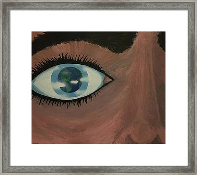 Eye Of The World Framed Print