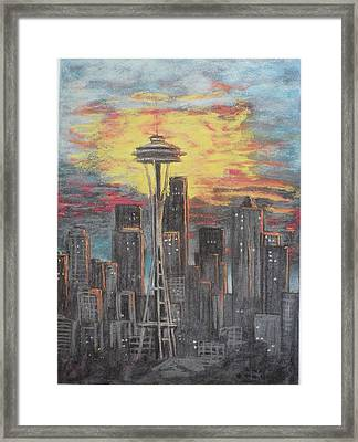 Eye On The Needle Framed Print by Dan Bozich