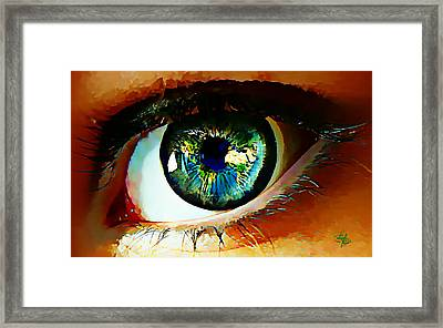 Eye On The World Framed Print