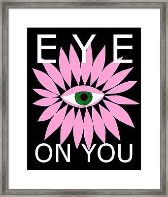 Eye On You - Black Framed Print