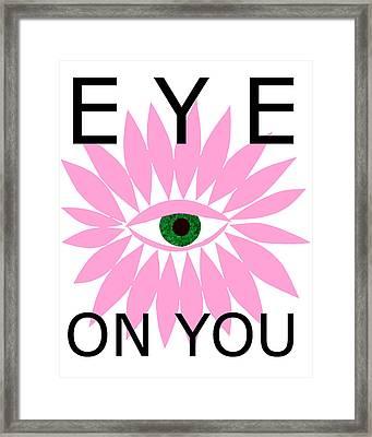 Eye On You Framed Print