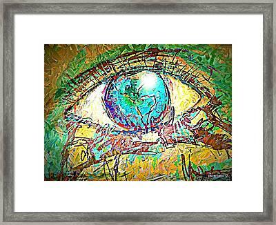 Eye Post-impressionist Framed Print by Paulo Zerbato