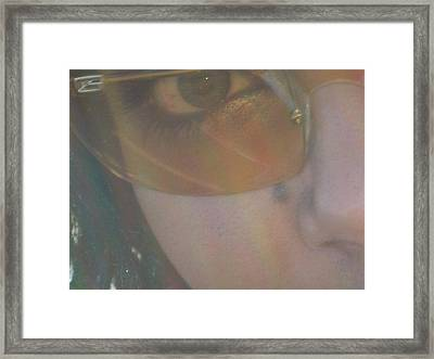 Framed Print featuring the photograph Eye by Robin Coaker