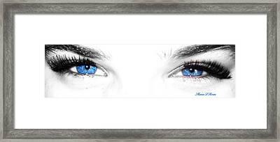 Eye Sea  Framed Print