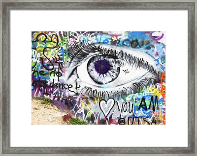 Eye See You, Eye Love You Framed Print