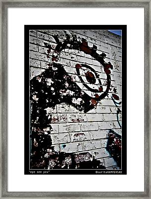 Eye See You Framed Print by Sarita Rampersad