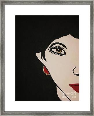 Eye Spy Painting Framed Print by Shelly Wiseberg