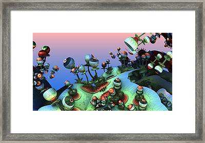 Eye Stalks Framed Print