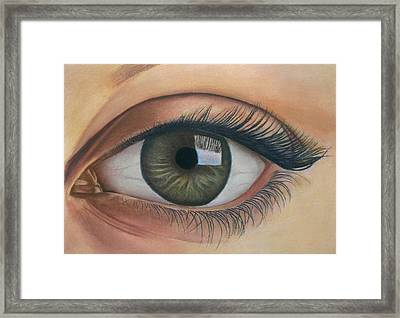 Eye - The Window Of The Soul Framed Print by Vishvesh Tadsare