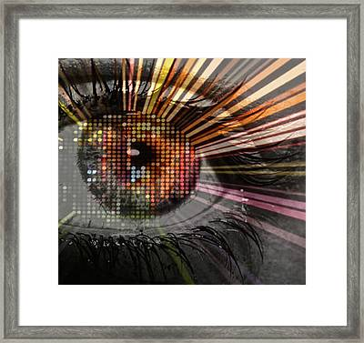 Eye Thoughts Framed Print by Katie Ransbottom