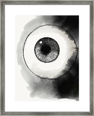 Eyeball Framed Print