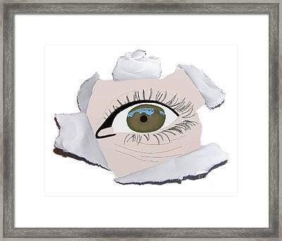 Paper Peek Framed Print by Priscilla Wolfe