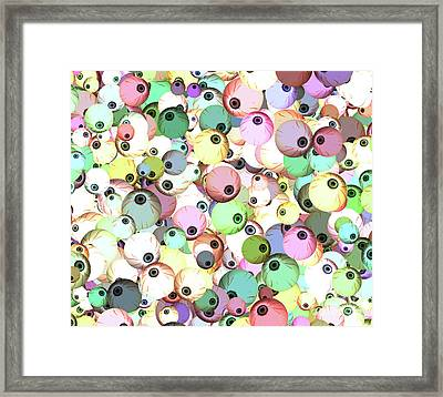 Framed Print featuring the digital art Eyeballs by Methune Hively
