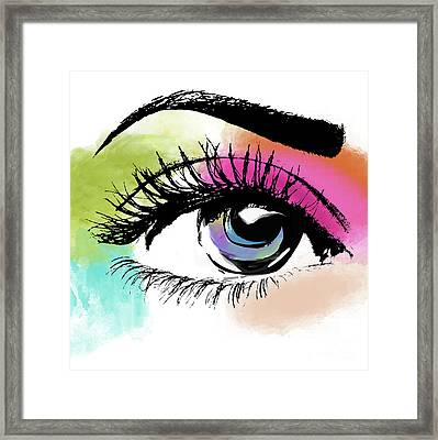 Eyeful Framed Print by Mindy Sommers