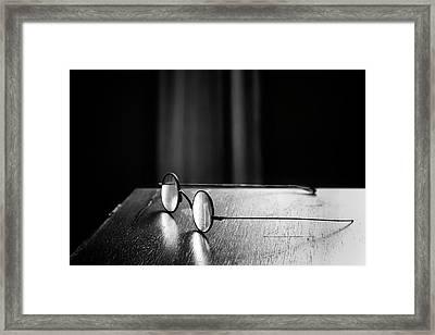 Eyeglasses - Spectacles Framed Print