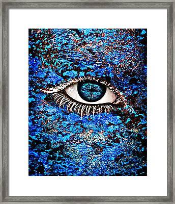 Eyelash  Framed Print by Yosi Cupano