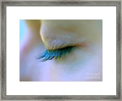 Eyelashes Framed Print