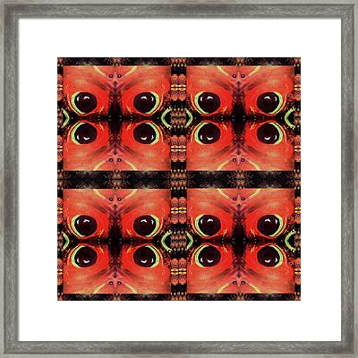 Framed Print featuring the painting Eyes 8 Four Square by Michelle Audas