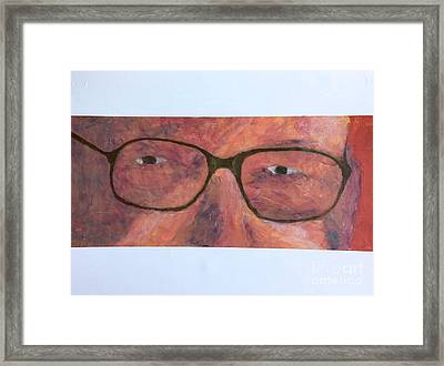 Framed Print featuring the painting Eyes by Donald J Ryker III