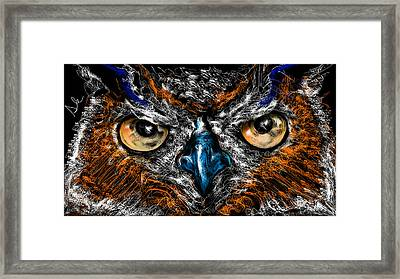 Eyes In The Night... Framed Print