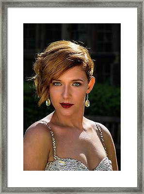 Eyes Like Crystal Framed Print