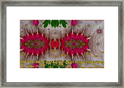 Eyes Made Of The Nature Framed Print by Pepita Selles
