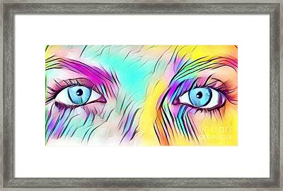 Eyes Of A Goddess - Quenn Of Rainbows  Framed Print