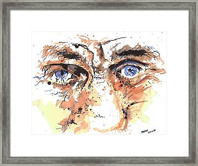 Eyes Of An Old Man Framed Print