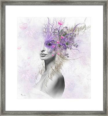 Valentine Eyes Framed Print