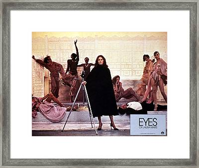 Eyes Of Laura Mars, Faye Dunaway, 1978 Framed Print by Everett