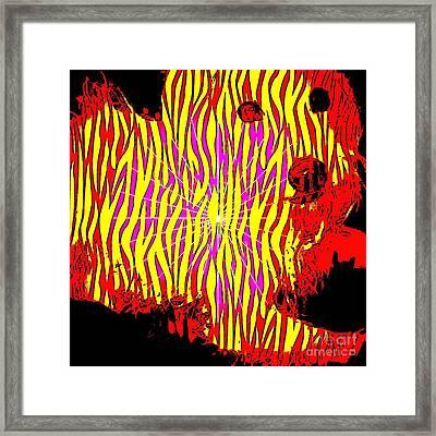 Eyes Of Red Framed Print