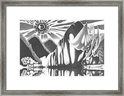 Eyes Of The Beholder Framed Print by Devaron Jeffery