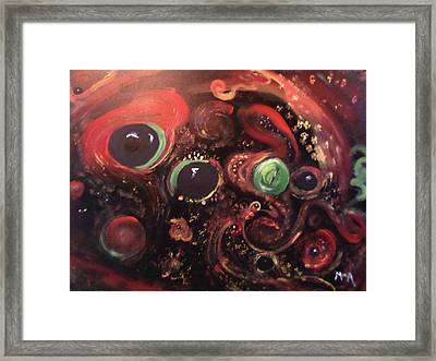Eyes Of The Universe # 5 Framed Print by Michelle Audas