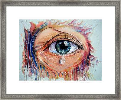 Eyes Of The World Framed Print by Ole Hedeager Mejlvang