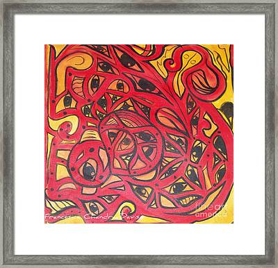 Eyes Of Truth Always Watching Framed Print by Sacred  Muse