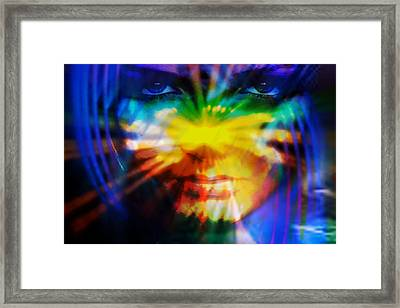 Framed Print featuring the digital art Eyes Of Truth by Shadowlea Is