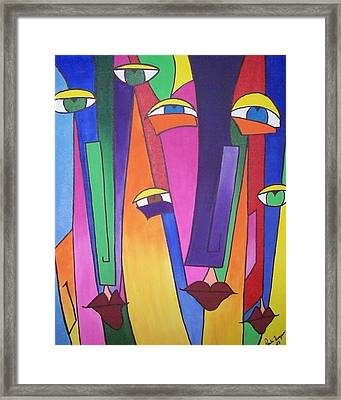 Eyes On You Framed Print by Paula Ferguson