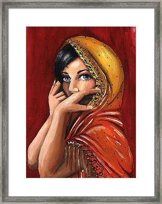 Eyes Framed Print by Scarlett Royal