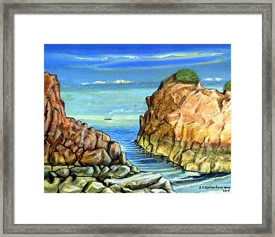 Eynmouth South East Scotland Framed Print by James Richardson