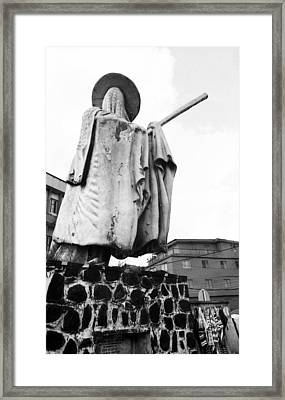 Eyo Statue, Idumota Framed Print