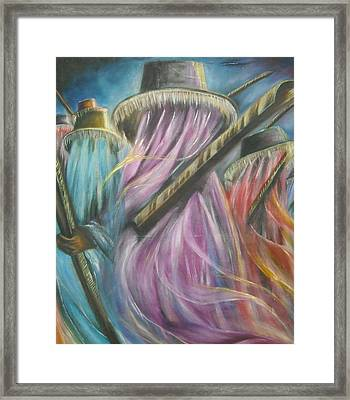 Eyo Masquerade Colorful Framed Print
