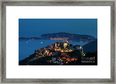 Eze And Cote D'azur Framed Print
