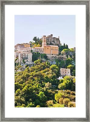 Eze, Cote D'azur, France Framed Print by John Harper