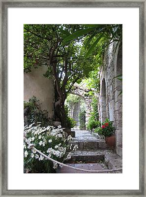 Framed Print featuring the photograph Eze Passageway by Carla Parris