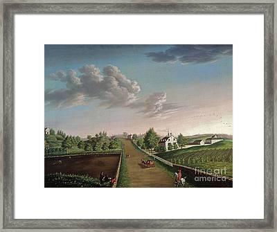 Ezekiel Hersey Derby Farm Framed Print by Michele Felice Corne